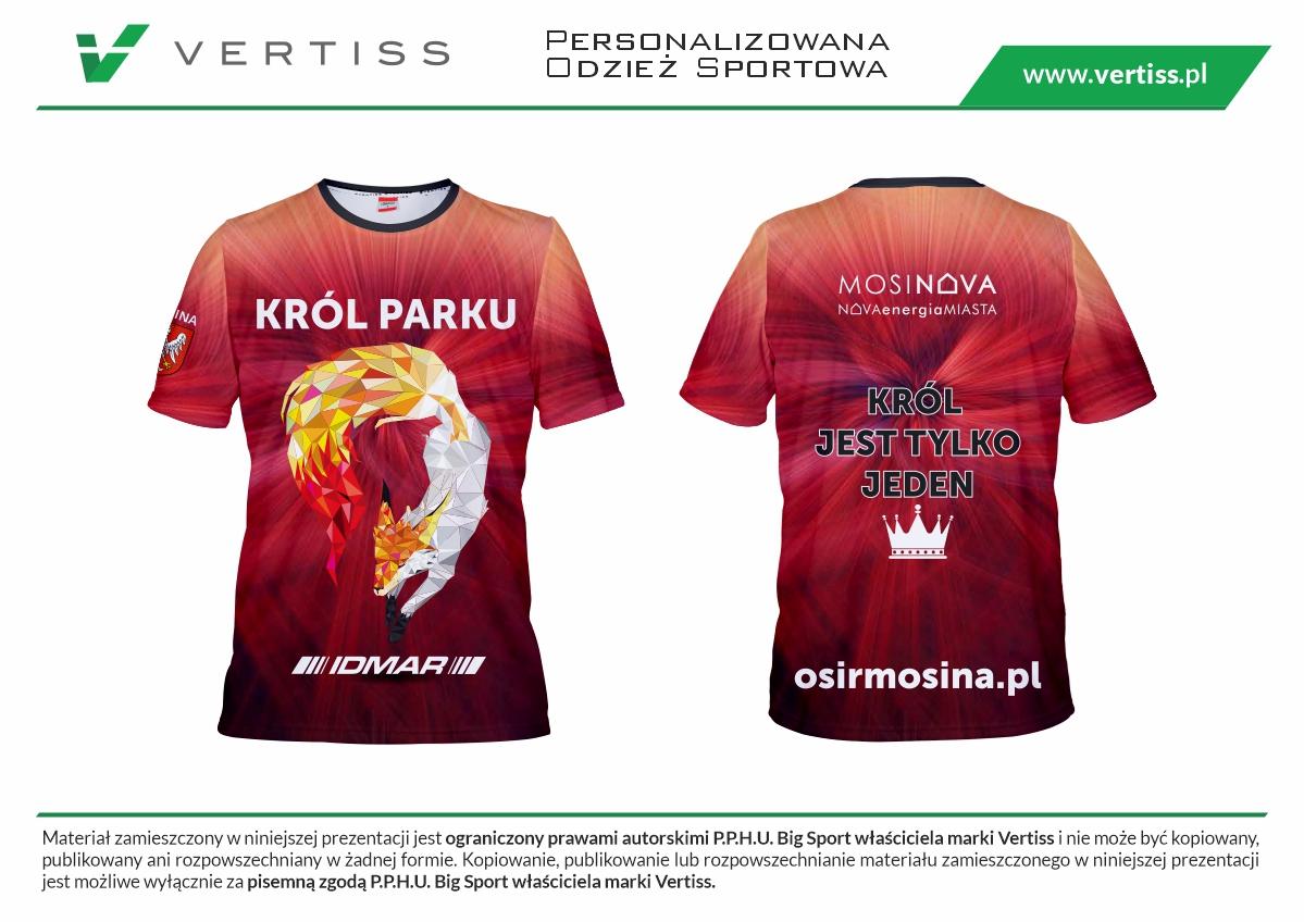 wizualizacja koszulki na króla parku 2021